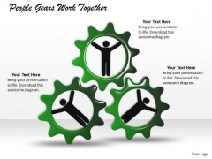 Business Strategy Implementation People Gears Work Together Images