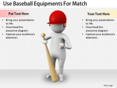Business Strategy Implementation Use Baseball Equipments For Match 3d Character Models