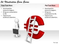 Business Strategy Innovation 3d Illustration Earn Euros Concepts
