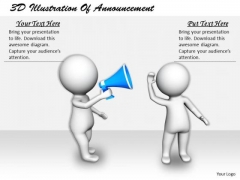 Business Strategy Innovation 3d Illustration Of Announcement Basic Concepts