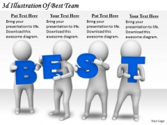Business Strategy Innovation 3d Illustration Of Best Team Concepts
