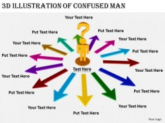 Business Strategy Innovation 3d Illustration Of Confused Man Concepts