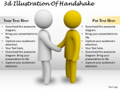Business Strategy Innovation 3d Illustration Of Handshake Character