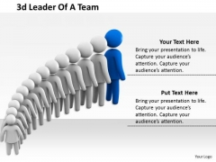 Business Strategy Innovation 3d Leader Of Team Adaptable Concepts