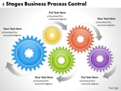 Business Strategy Innovation 5 Stages Process Control Strategic Planning Templates Ppt Slide