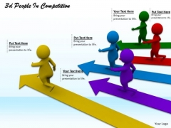 Business Strategy Model 3d People Competition Concepts