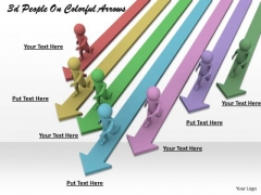 Business Strategy Model 3d People On Colorful Arrows Concepts