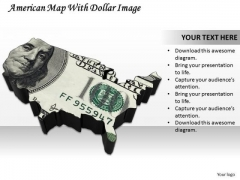 Business Strategy Model American Map With Dollar Image Images