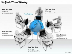 Business Strategy Plan 3d Global Team Meeting Concept