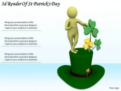 Business Strategy Plan 3d Render Of Patricks Day Basic Concepts