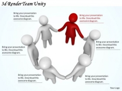Business Strategy Plan 3d Render Team Unity Basic Concepts
