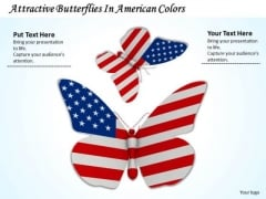 Business Strategy Plan Attractive Butterflies American Colors Success Images