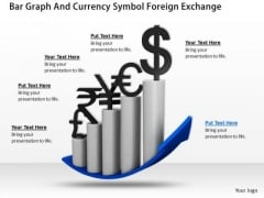Business Strategy Plan Bar Graph And Currency Symbol Foreign Exchange Clipart