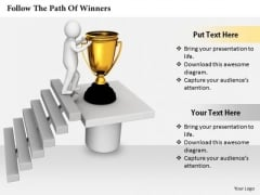 Business Strategy Plan Follow The Path Of Winners Basic Concepts