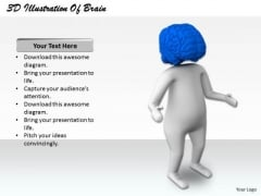 Business Strategy Plan Template 3d Illustration Of Brain Power Concept