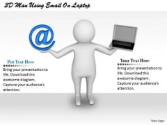 Business Strategy Plan Template 3d Man Using Email On Laptop Characters