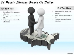 Business Strategy Plan Template 3d People Shaking Hands On Dollar Concepts