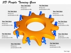 Business Strategy Plan Template 3d People Turning Gear Character Modeling