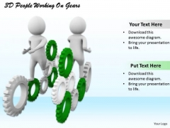 Business Strategy Plan Template 3d People Working On Gears Adaptable Concepts