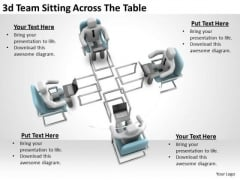 Business Strategy Plan Template 3d Team Sitting Across The Table Basic Concepts