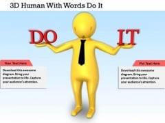 Business Strategy Planning 3d Human With Words Do Concepts