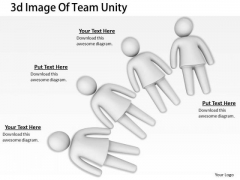 Business Strategy Planning 3d Image Of Team Unity Concepts