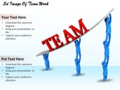 Business Strategy Planning 3d Image Of Team Work Concepts