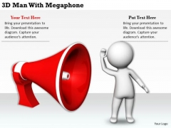 Business Strategy Planning 3d Man With Megaphone Concept