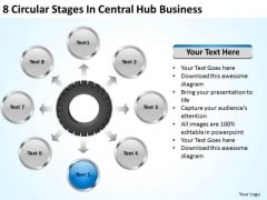 Business Strategy Planning Circular Stages Central Hub Examples