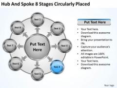 Business Strategy Planning Hub And Spoke 8 Stages Circularly Placed Develop