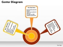 Business Strategy PowerPoint Templates Business Three Factors Linked To Center Diagram Ppt Slides