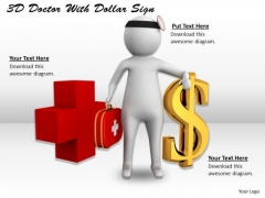 Business Strategy Process 3d Doctor With Dollar Sign Character Models