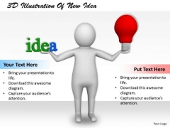 Business Strategy Process 3d Illustration Of New Idea Basic Concepts