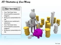 Business Strategy Process 3d Illustration Of Save Money Basic Concepts