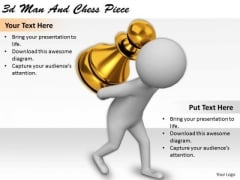Business Strategy Process 3d Man And Chess Piece Characters