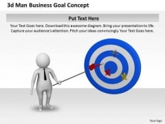Business Strategy Process 3d Man Goal Concept Character Models