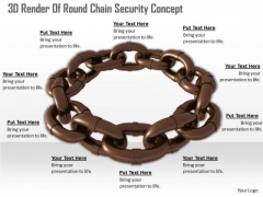 Business Strategy Process 3d Render Of Round Chain Security Concept Icons Images
