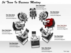 Business Strategy Process 3d Team Meeting Characters