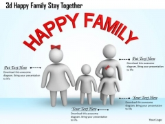 Business Strategy Review 3d Happy Family Stay Together Basic Concepts