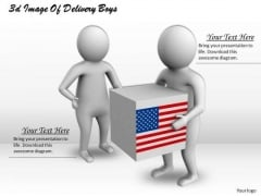 Business Strategy Review 3d Image Of Delivery Boys Concepts