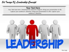 Business Strategy Review 3d Image Of Leadership Concept Character Models