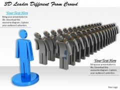 Business Strategy Review 3d Leader Different From Crowd Concept