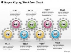 Business Strategy Review 8 Stages Zigzag Workflow Chart Change Management Ppt Slide