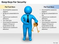Business Strategy Review Keep Keys For Security Concepts