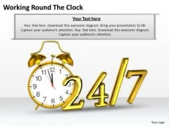 Business Strategy Working Round The Clock Success Images