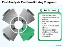 Business Structure Diagram Pest Analysis Problem Solving PowerPoint Slides