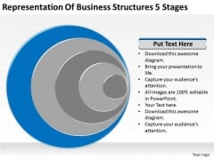 Business Structures 5 Stages Ppt Personal Plan Template PowerPoint Slides