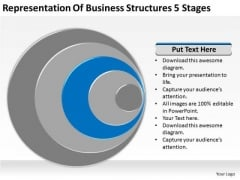 Business Structures 5 Stages Ppt Plan PowerPoint Templates