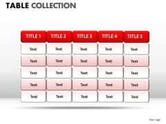 Business Table Collection PowerPoint Slides And Ppt Diagram Templates