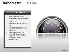 Business Tachometer Half Dial PowerPoint Slides And Ppt Diagram Templates